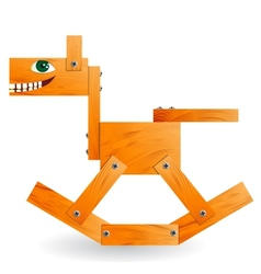 Wooden toy horse vector image vector image