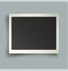 Retro realistic horizontal blank instant photo vector