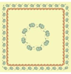 seamless floral spring frames vector image vector image