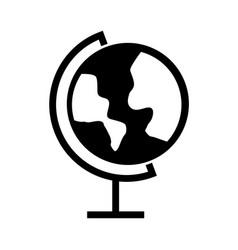 black icon world map cartoon vector image