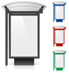Bus shelter billboard vector