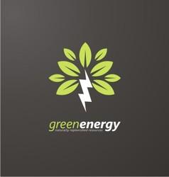 Creative symbol concept for renewable energy vector image