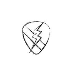 figure rock emblem with thunder symbol design vector image vector image