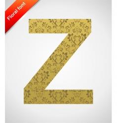 floral font ornament letter vector image vector image