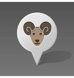 Sheep pin map icon Animal head vector image vector image