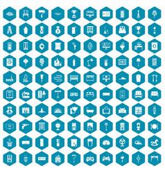100 home icons sapphirine violet vector