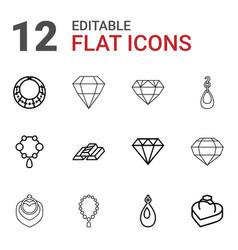 12 precious icons vector