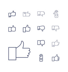 13 like icons vector