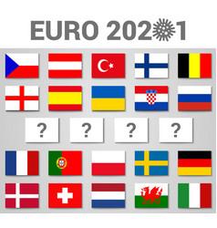 2020 euro football cup postponed concept vector