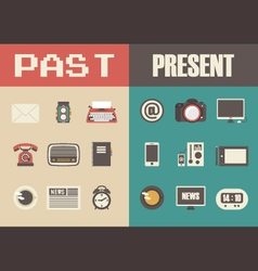 279retro and modern technology vector image