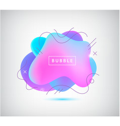 3d gradient spot bubble with wavy lines vector image