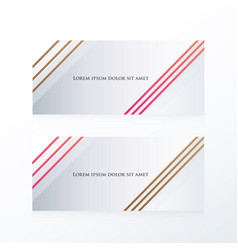 Abstract line banner pink brown vector