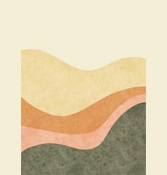 Abstract mountain landscape minimalist design vector