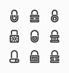 Abstract padlock icons vector image