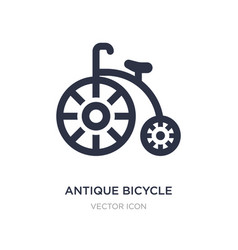Antique bicycle icon on white background simple vector