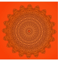 arabesque orange vector image