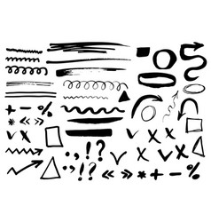 Arrows dividers and borders elements hand drawn vector
