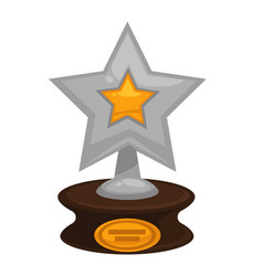 Award star prize golden flat icon for vector