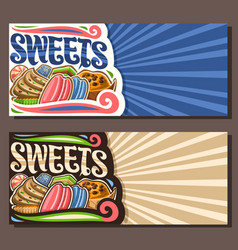 Banners for sweets vector