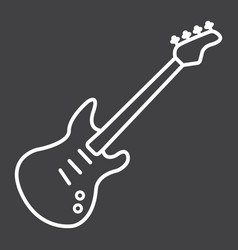 bass guitar line icon music and instrument vector image