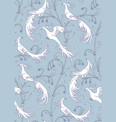 Birds on blue vector