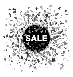 black ball with the inscription sale vector image