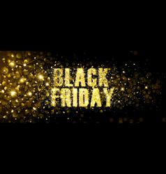 black friday gold glitter background vector image