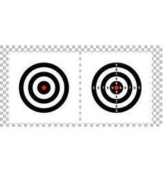 blank arrow target blank gun target paper shootin vector image