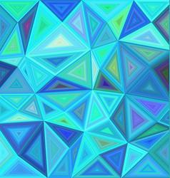 Blue triangle mosaic tile background design vector image