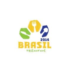 brasil 2014 restaurant vector image