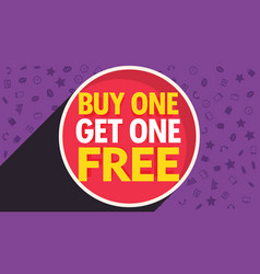 buy one get one free discount voucher design vector image