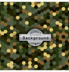 Camouflage military hexagon pattern background vector