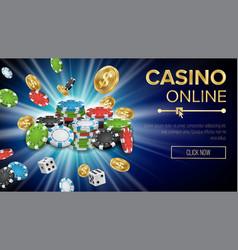 casino banner jackpot casino billboard vector image