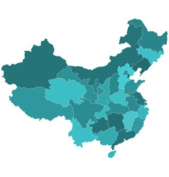 China regions map vector image