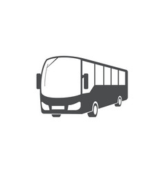 city bus public transport symbol design vector image