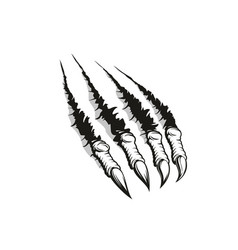 Claw ripping through background tattoo design vector