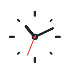 clock face on white background vector image