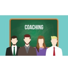 Coaching concept in a team with text vector