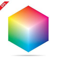 Color palette 1261 different colors vector