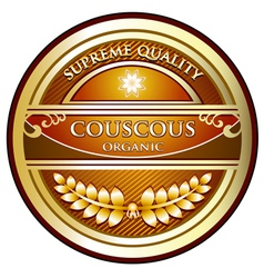 Couscous Organic Label vector