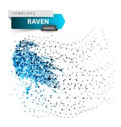 Crow raven - glare dot vector