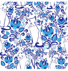 cute white cats vector image