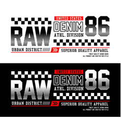 denim 86 t-shirt and apparel design vector image