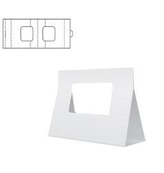 Diecut Craft Box for design vector