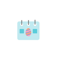 easter calendar page with egg icon vector image