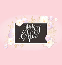 easter day greetings banner vector image