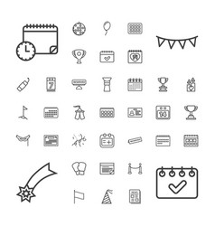 Event icons vector