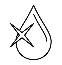 Eye drop oil icon outline style vector