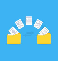 files transfer copy files data exchange backup vector image
