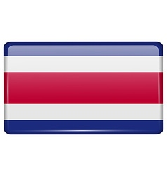 Flags Costa Rica in the form of a magnet on vector image vector image